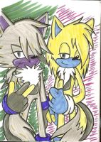 .:commission:.  Zip and Zap by SONICJENNY