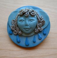 Lady of the Silver Lining Pin by Fajra