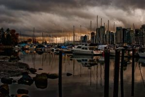 Harbour Scene 1 by lisoslyphem