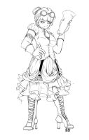 Steampunk Dame + For Faaae by Just-Like-Shipwrecks