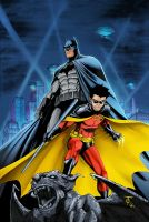 Batman and Robin Print by LegendaryRoz