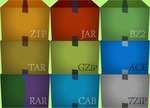 WinRAR Adobe Box Icon by AnwarRental