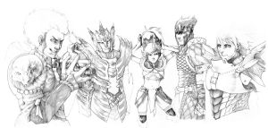 Monster Hunter - pencils by Gido