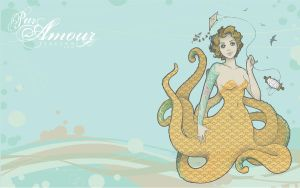 Octopus Lady Wallpaper by kerinewton