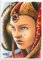 Queen Amidala Sketch Card by Erik-Maell
