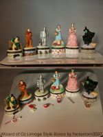 Wizard of Oz Limoge Style Boxes by Nolamom3507