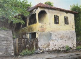 Old yellow house by thesvetislav