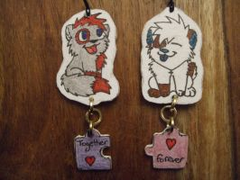 Rena and Patience keychains by Pokepaws