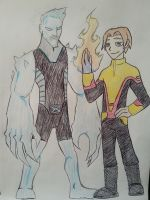 Marvel Legacy - Iceman and Firefist by Zigwolf
