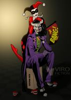 Joker and Harley Quinn by Viro-Fiction