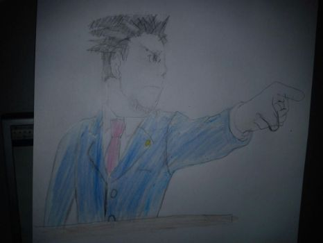 My attempt of Phoenix Wright by Ed-e-D