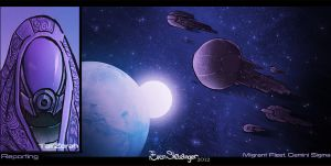 Mass Effect 3 collection Migrant Fleet by EskarArt