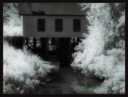 old dam house by insaneone