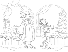 Holiday Shopping - Commish by shani-hyena