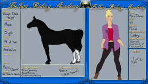 Bellum Riding Academy :: Marie and Bijou by FoxPasturesFarms