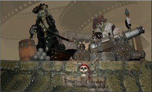 Pirates Cannon StockBackground by WDWParksGal-Stock
