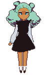 Fluffy Haired Pixel Girl by tadpolily