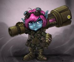 Tristana riot girl by Cariman