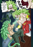 Commission: Okura vs Broly by ElyasArts