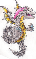 FF5 Shinryu in Colour by Neslug