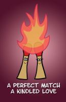 Valentine's Day Card - Matches by Emjaidi