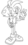 My very own version of: Manic The Hedgehog (line) by Tangerinna