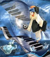 Pierrot and Piano by ladyjudina