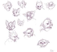 Fox Faces by Linzys