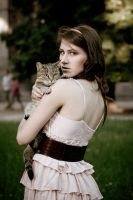 Girl with cat V by ladyang