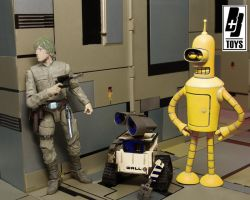 Luke and his droids by briqnbrakstoys