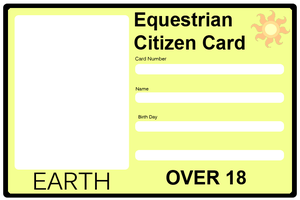 Equestrian Citizen Card - Earth by Maxis122