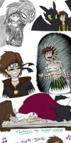 super huge HTTYD doodle dump of doom by dreamer45