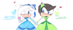 Jack and Aisyah in a Dresses by sonic4ever760