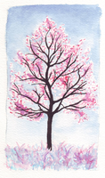 Pink Tree by Zalein