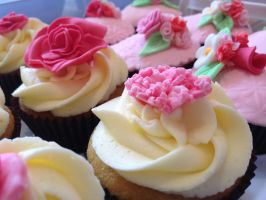carnation cupcake by LittleBettysBoutique