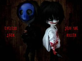 Eyeless Jack and Jeff the Killer by HavenRelis