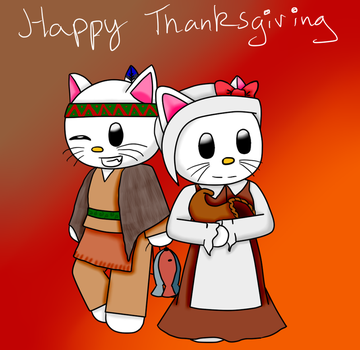 Kitty Thanksgiving by ChristianCosmo
