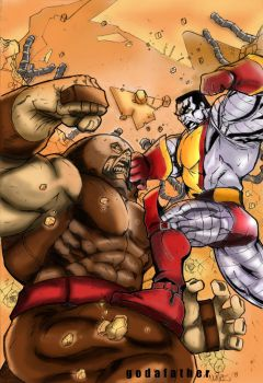 Juggernaut vs Colossus by godafather