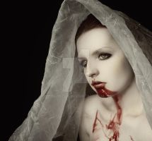 blood on face by Deliszja