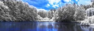 Snowy lake by Stegie