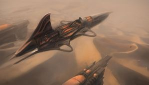 Desert airship by Tryingtofly