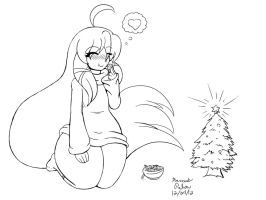 Mina Xmas Cookies Sketch by Anubis2Pabon288