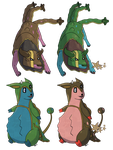 Tauros Miltank Gastrodon Fusions by Axel-Comics