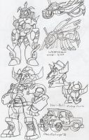 TFProject: Waspinator and Horri-Bull by BlueIke