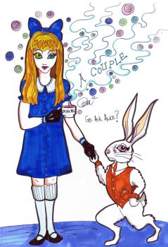 Alice and the White Rabbit as a Couple by remdesigns