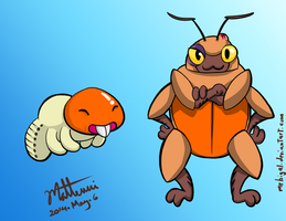 Pokemon Design: Jobotiny and Philomayo by MrBIGAL