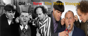 Old vs New - The Three Stooges Poster by cartoonfan22