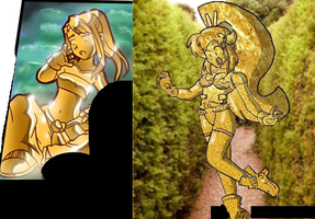 Two Gold Statue's by slashero3