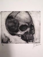 Skull Drypoint 2 by mattcusmano