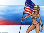 Flag Girl 1024x768 by FoxxFireArt